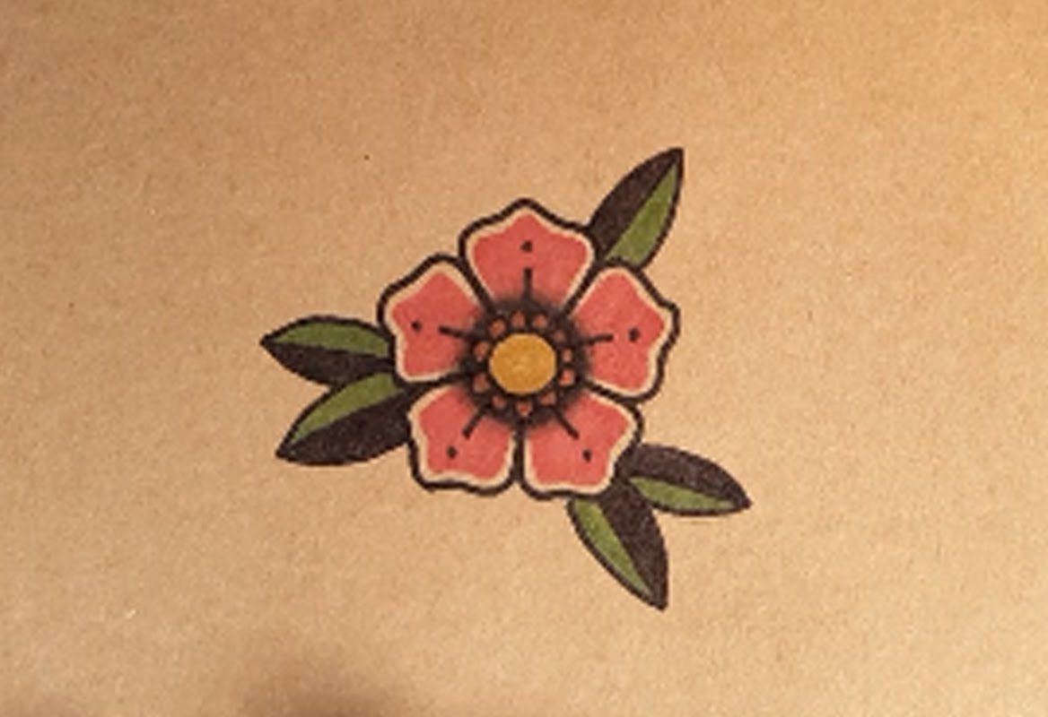 Learn To Draw A Realistic Rose Drawing On Demand Simple Flower Tattoo Traditional Tattoo Flowers Flower Tattoo Drawings