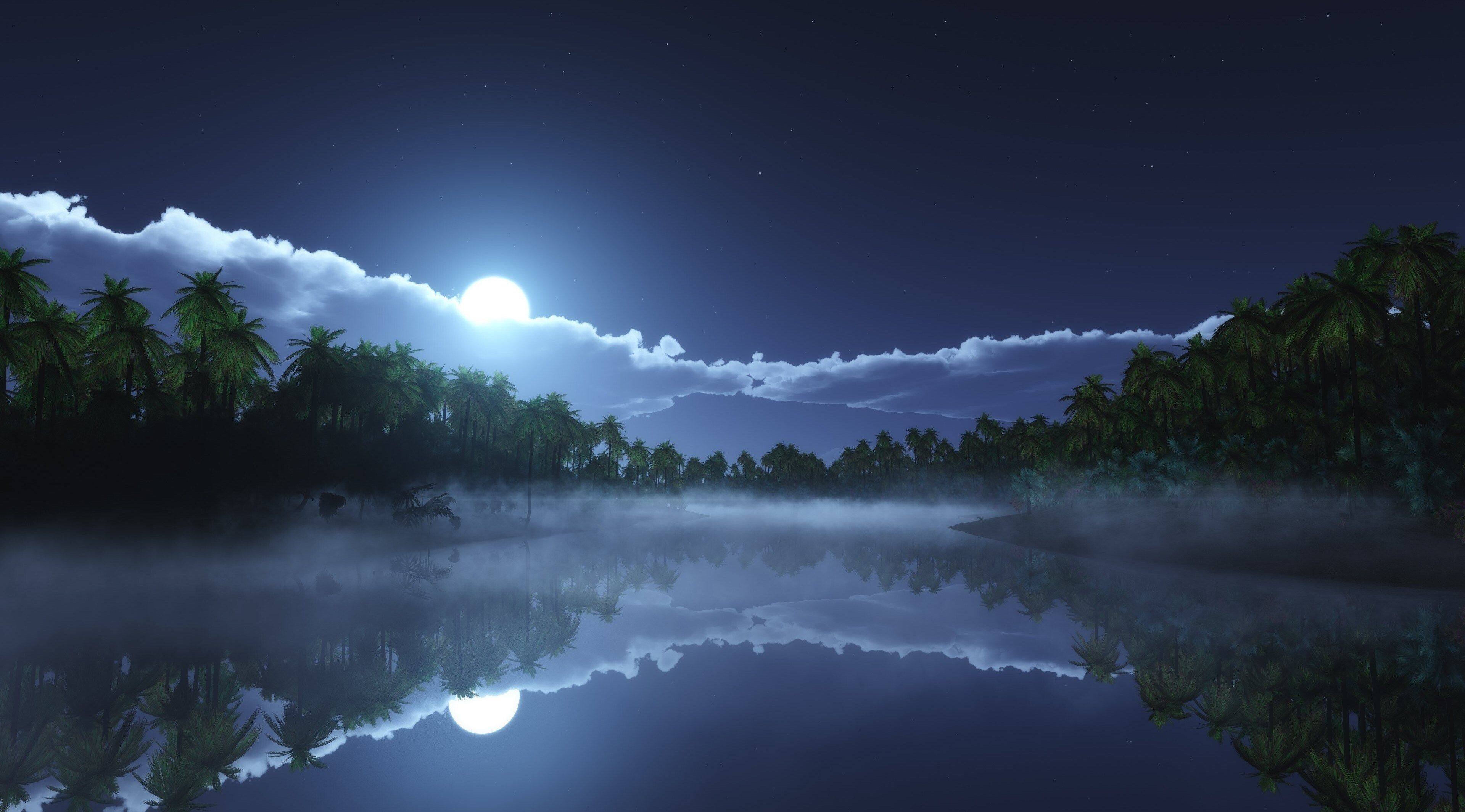3840x2130 River 4k Pics Free Download Beautiful Night Sky Night Sky Wallpaper Nature Water