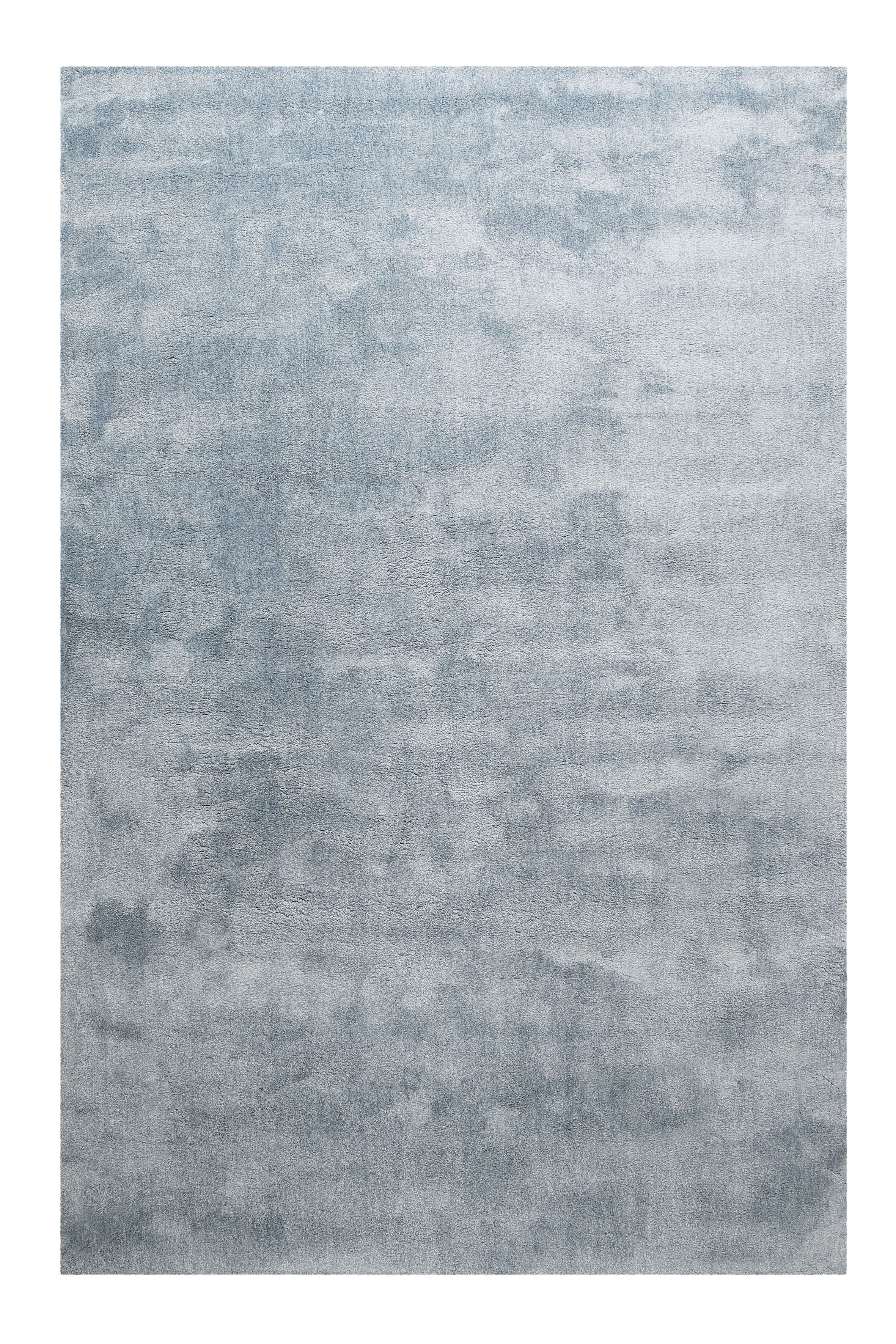 Homie Living Hochflor Teppich Sienna Blau Grau Salon