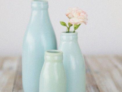 Small Duck Egg Blue Milk Bottle Vase Milk Bottle Vases Milk Bottle Blue Milk