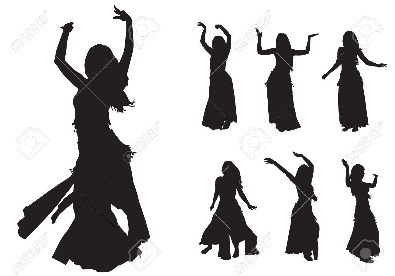Jeune fille danse est la danse sur sc ne danse - Danseuse orientale dessin ...