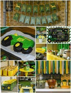 John Deere Birthday Party Ideas for a 3 Year Old Birthday party
