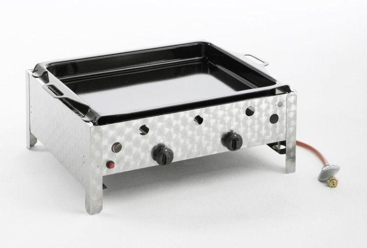 landmann 2 flammiger edelstahl gasbr ter mit emaillierter pfanne gasbr ter pinterest. Black Bedroom Furniture Sets. Home Design Ideas