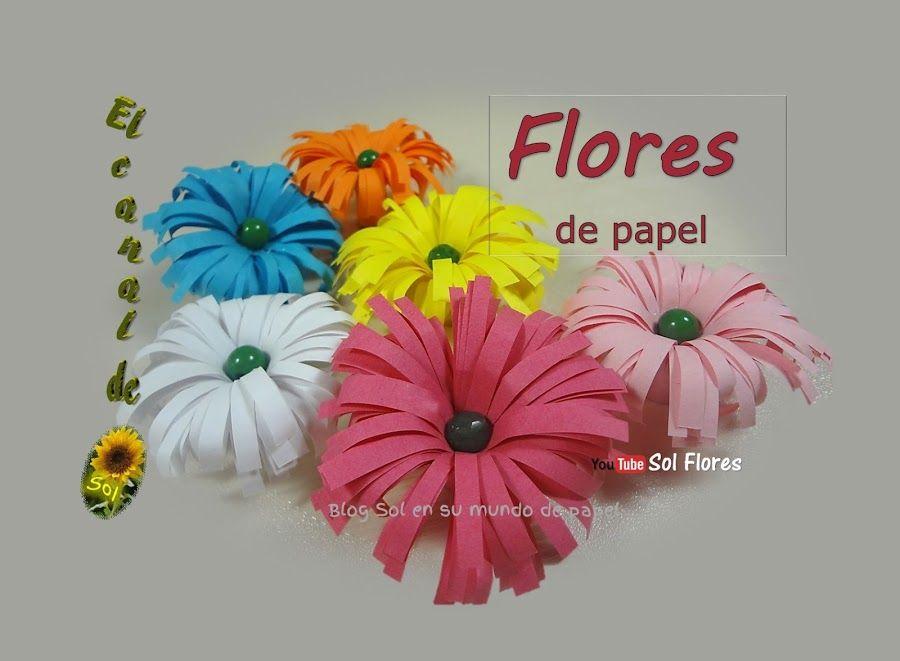 Llena tus fiestas de color con flores de papel - Manualidades con papel de colores ...