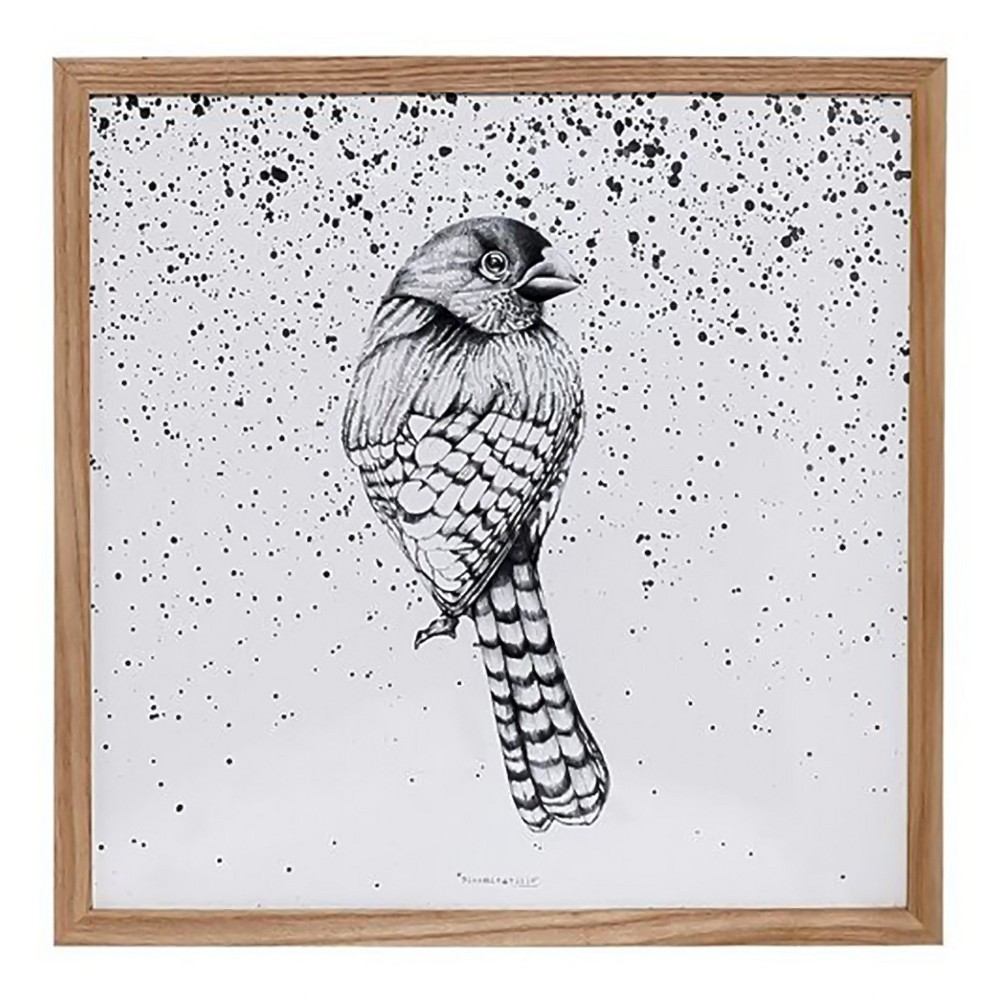 Wood framed bird wall décor r studios natural products