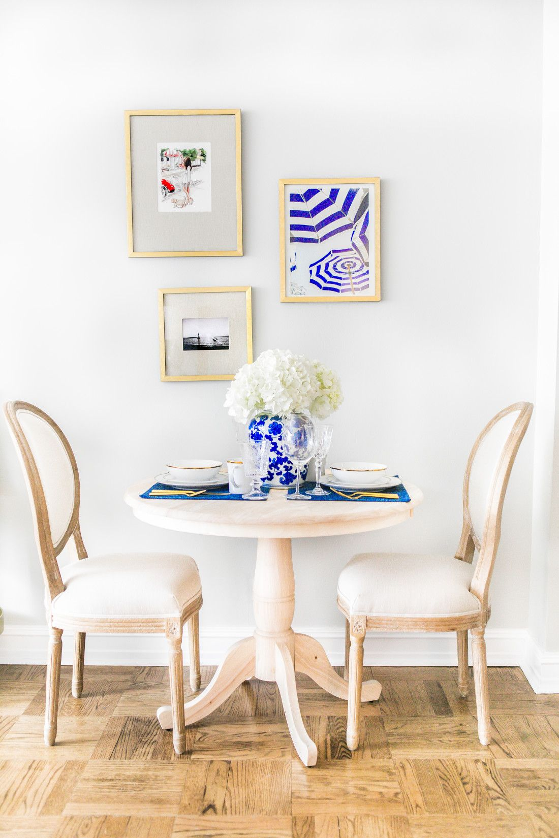 Entertaining With Pier 1 Home Round Dinning Table Interior