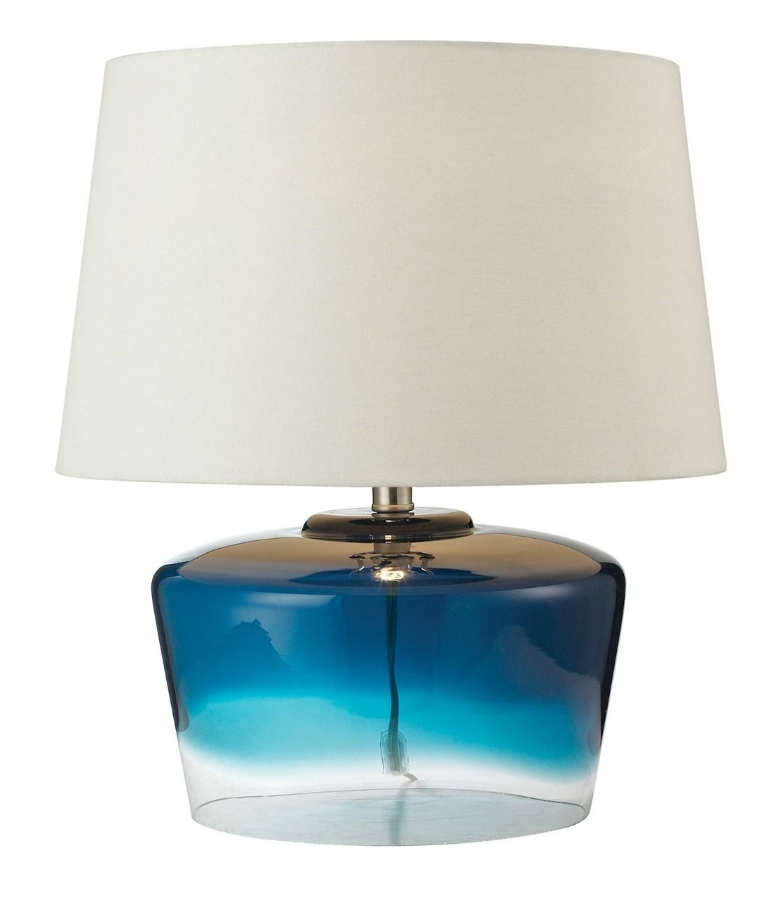 High Quality Belize Blue Glass Table Lamp