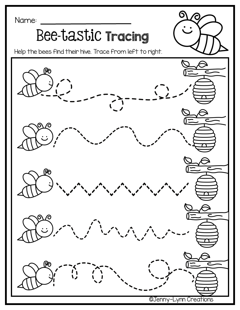 April Pre K Math Literacy Tracing Worksheets Preschool Math Activities Preschool Preschool Learning Activities [ 1056 x 816 Pixel ]