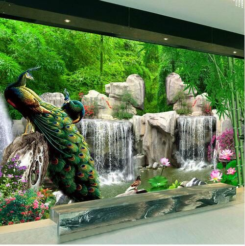 Find More Wallpapers Information About 3d Wall Mural Natural Scenery Wallpaper Landscape Bamboo Fo Scenery Wallpaper Living Room Wall Wallpaper Mural Wallpaper