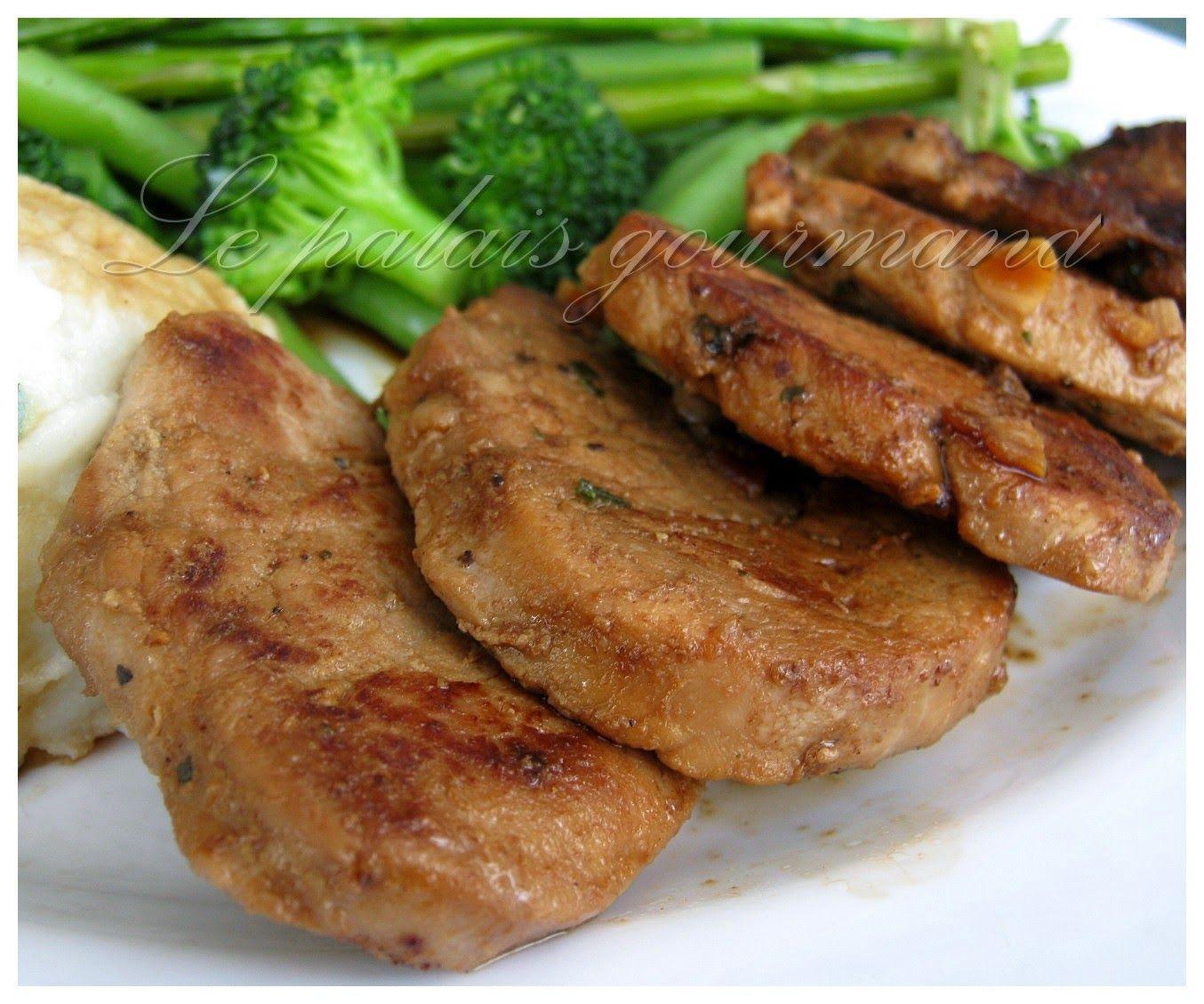 Le palais gourmand: Filet de porc à l'orange et au gingembre