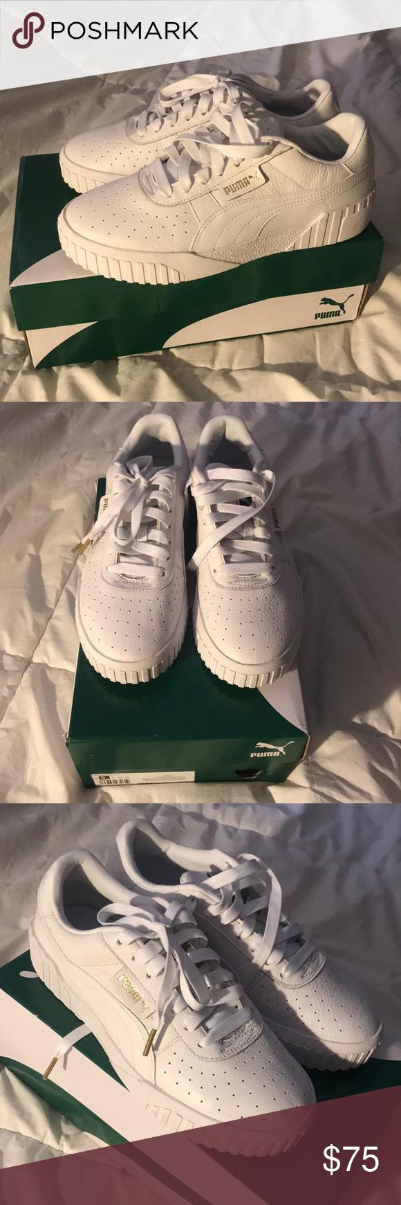 NEW- women's puma Cali white sneakers