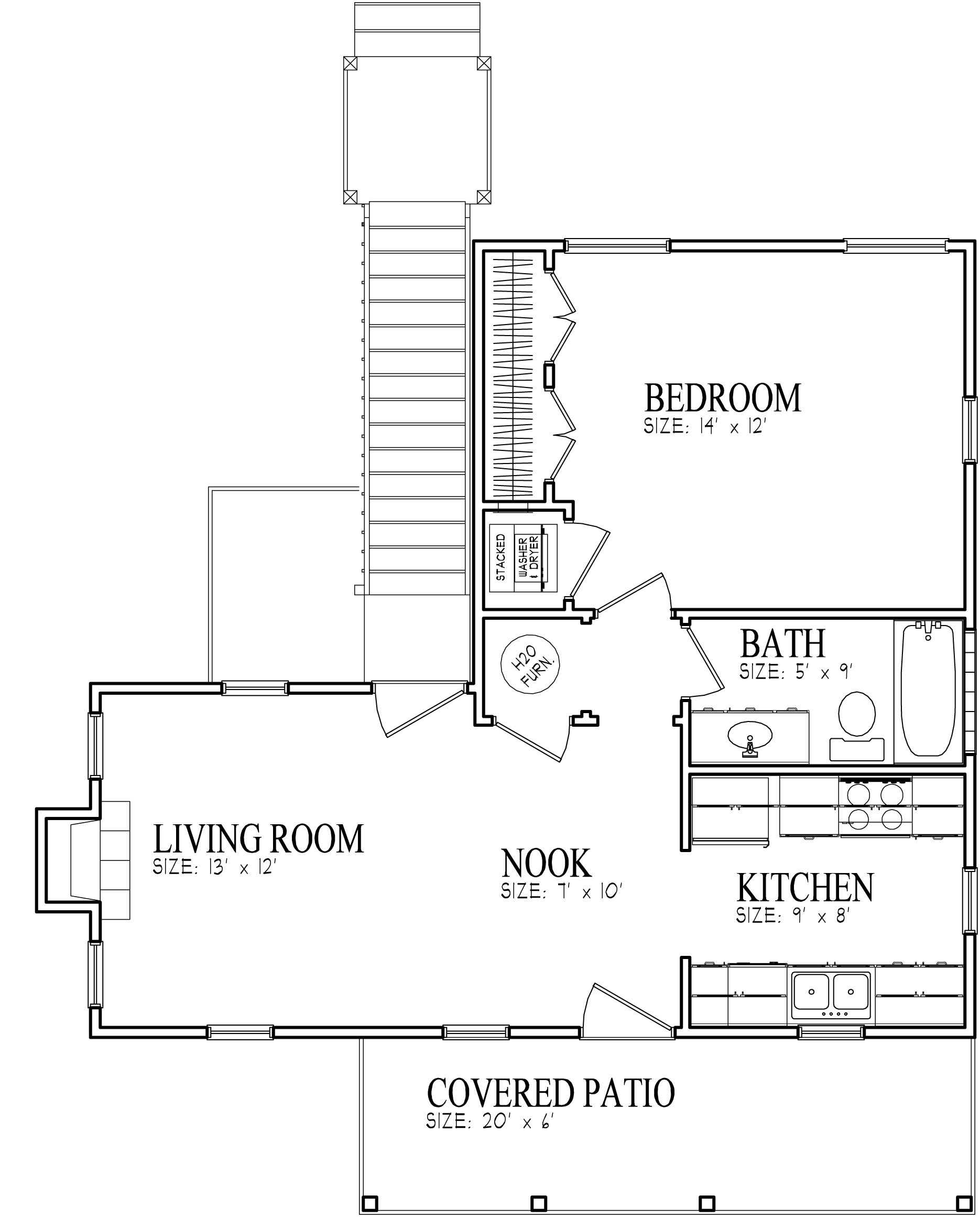 1bed 1bath Available For Rent In 2bhk Apartment In Elan: Floor Plan Name: Cottages At MeadowCreek 1 Bedroom, 1
