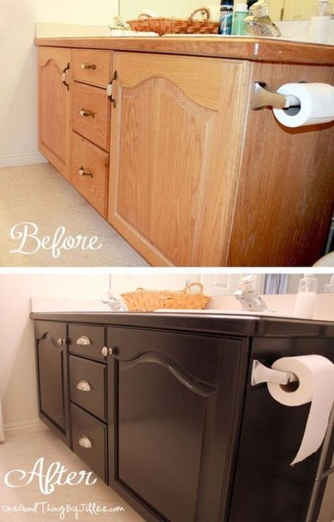 Diy home improvement on a budget give your old bathroom cabinets a diy home improvement on a budget give your old bathroom cabinets a facelift easy and cheap do it yourself tutorials for updating and renovating solutioingenieria Images
