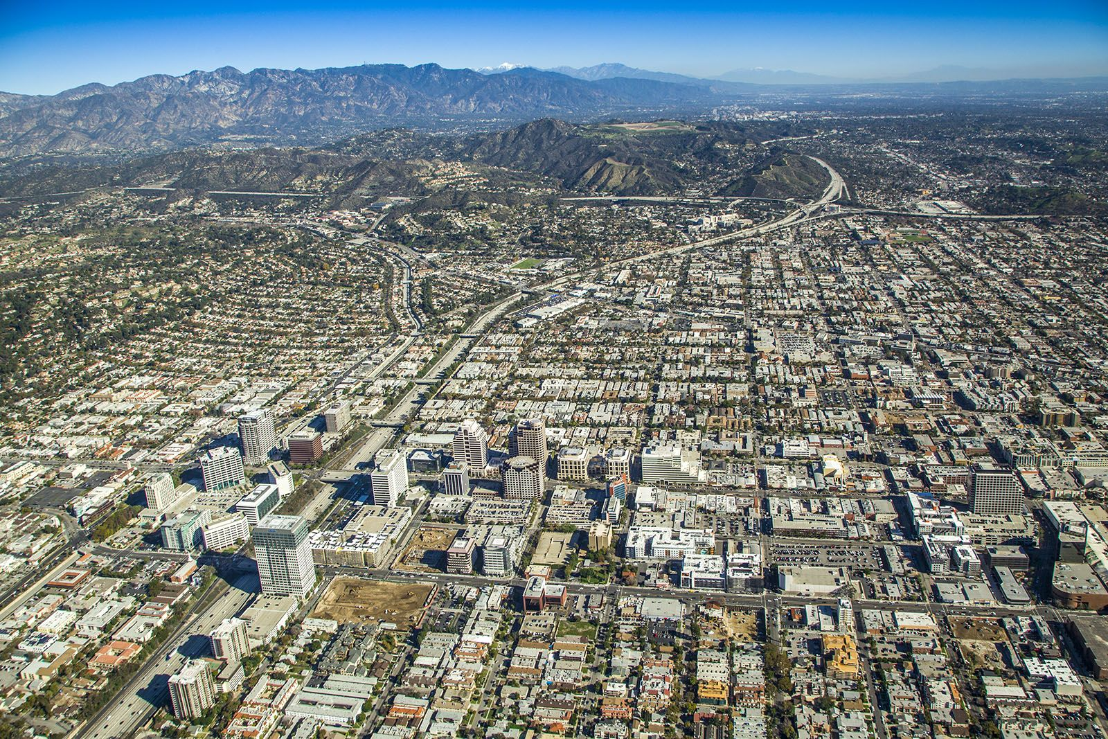 Glendale Ca Glendale Aerial View Usa Cities