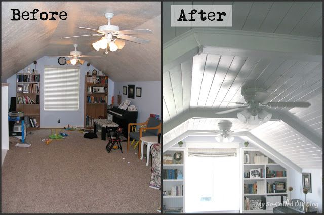 Diy Faux Beams And Planking On Bonus Room Ceiling Rooms With