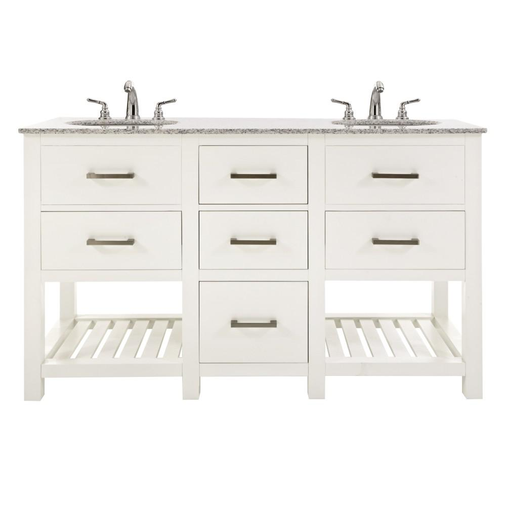 Home Decorators Collection Fraser 60 In W Double Vanity In White