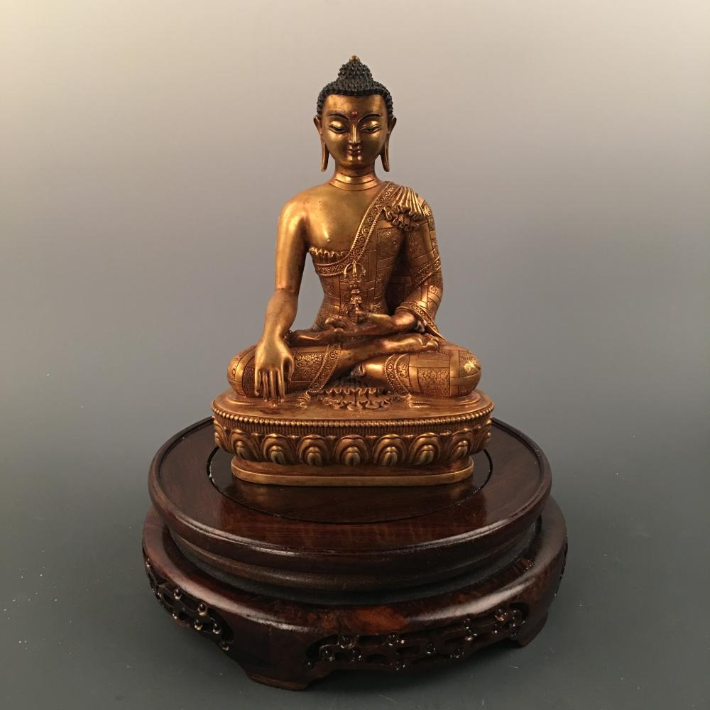 China Buddhism Fane Brass Netherworld Leader Ksitigarbha Boddhisattva Statue