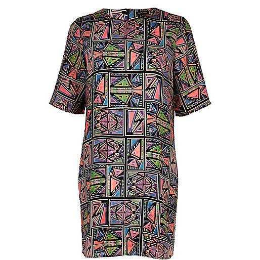 Pinterest Azteekse Lovelies Zwarte T shirtjurk Print Jurken LjpqUzVGSM