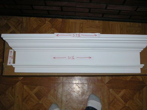 Fypon door window crosshead pediment header molded for Interior window crossheads