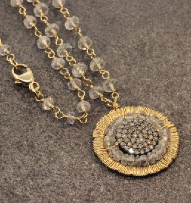 Dana Kellin Diamond and Sapphire Necklace