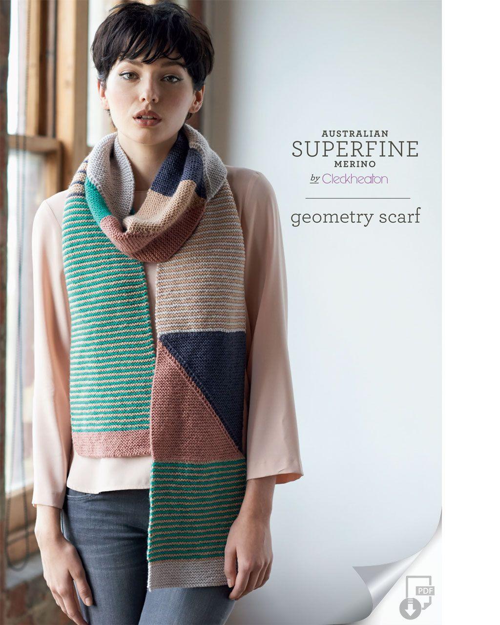 Free Geometry Scarf Pattern