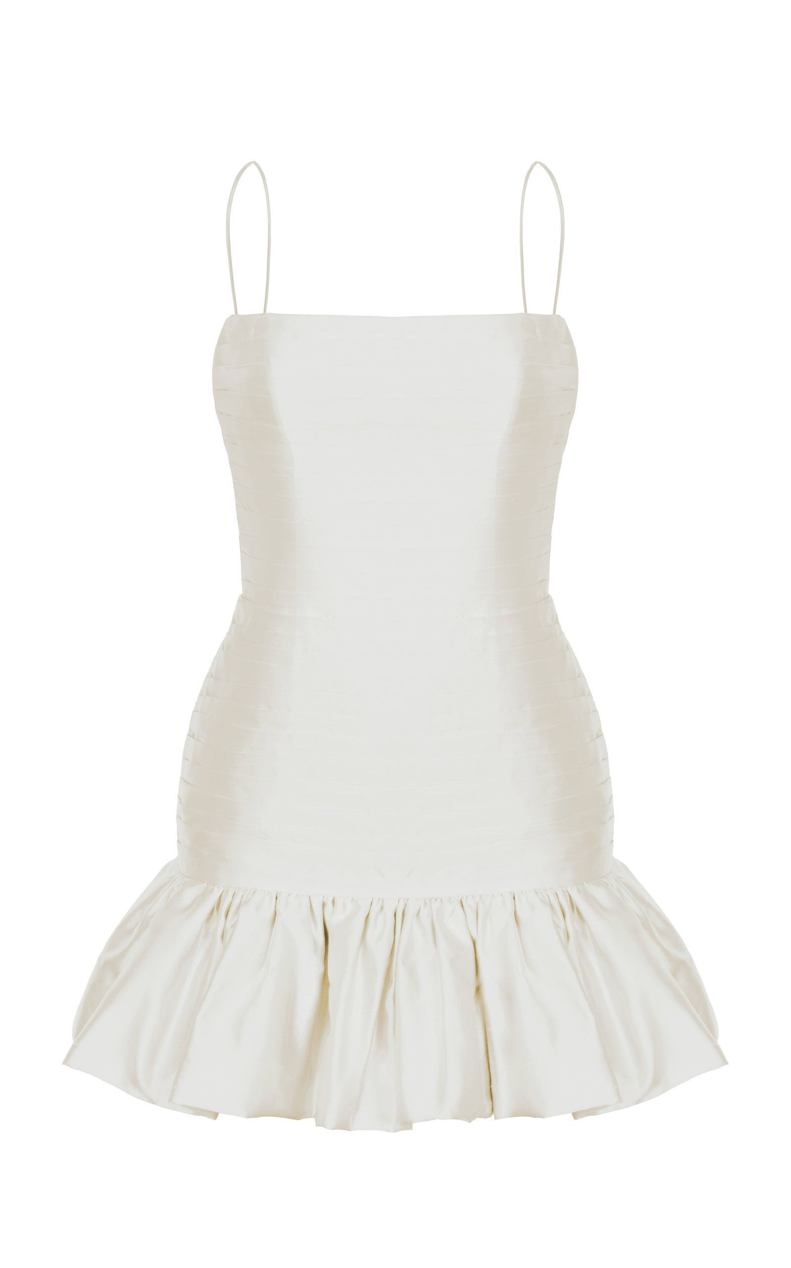 6da58afac1ec Low-Back Silk Mini Dress by RASARIO for Preorder on Moda Operandi Flirty  white mini ruffle
