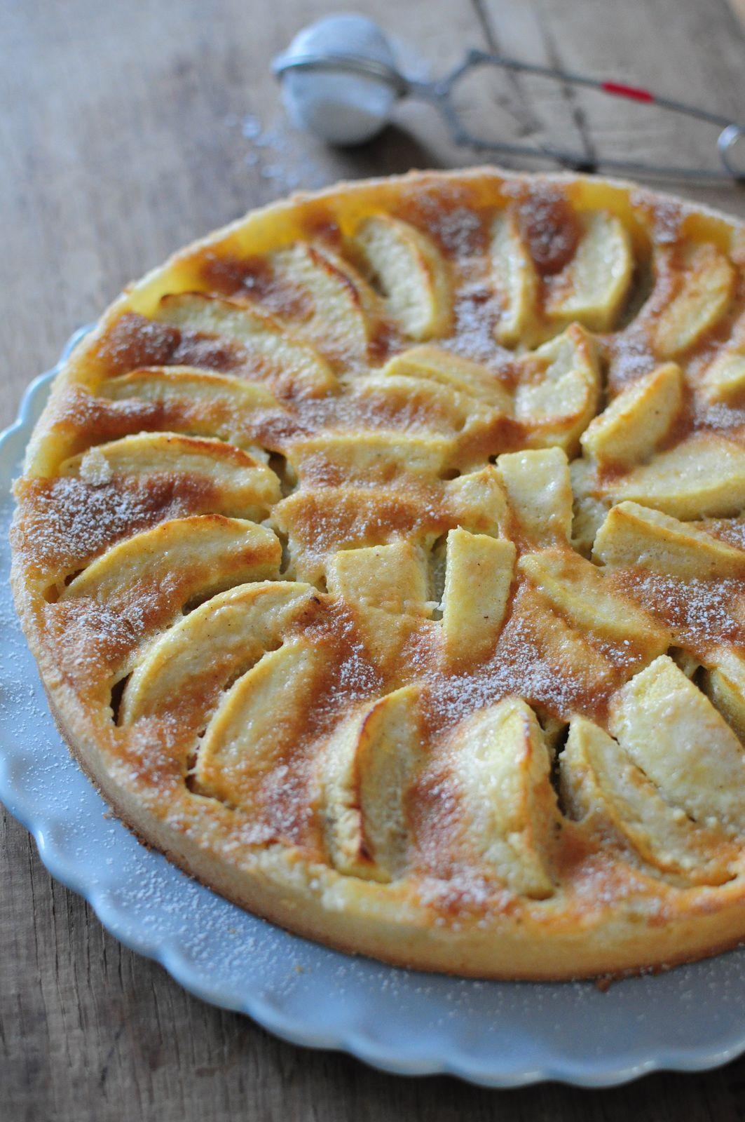 Tarte normande aux pommes blog de cuisine cr ative recettes popotte de manue tartes - Recette tarte au pomme normande ...