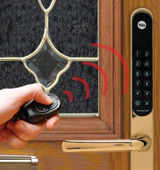 Yale Keyfree Zap Your Front Door Like You Do Your Car Keyless Door Lock Door Locks Keyless Entry Locks