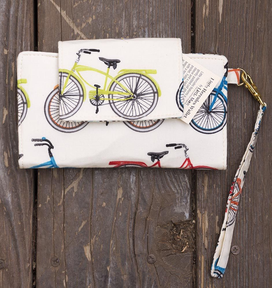Bicycle Cellphone Wallet Leather Bags Handmade Handbag Boutique