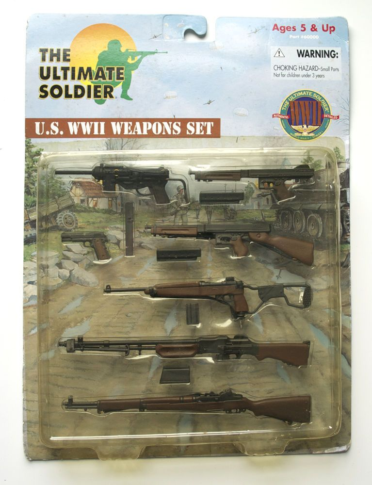 Ultimate Soldier U.S. WWII Weapons Set, 21st Century Toys ...