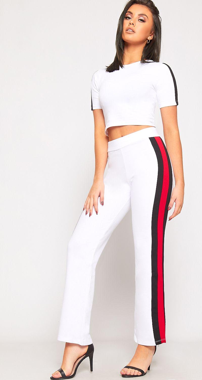 e9296924fd0b Zaylee Side Striped Crop Top Joggers Loungewear Set