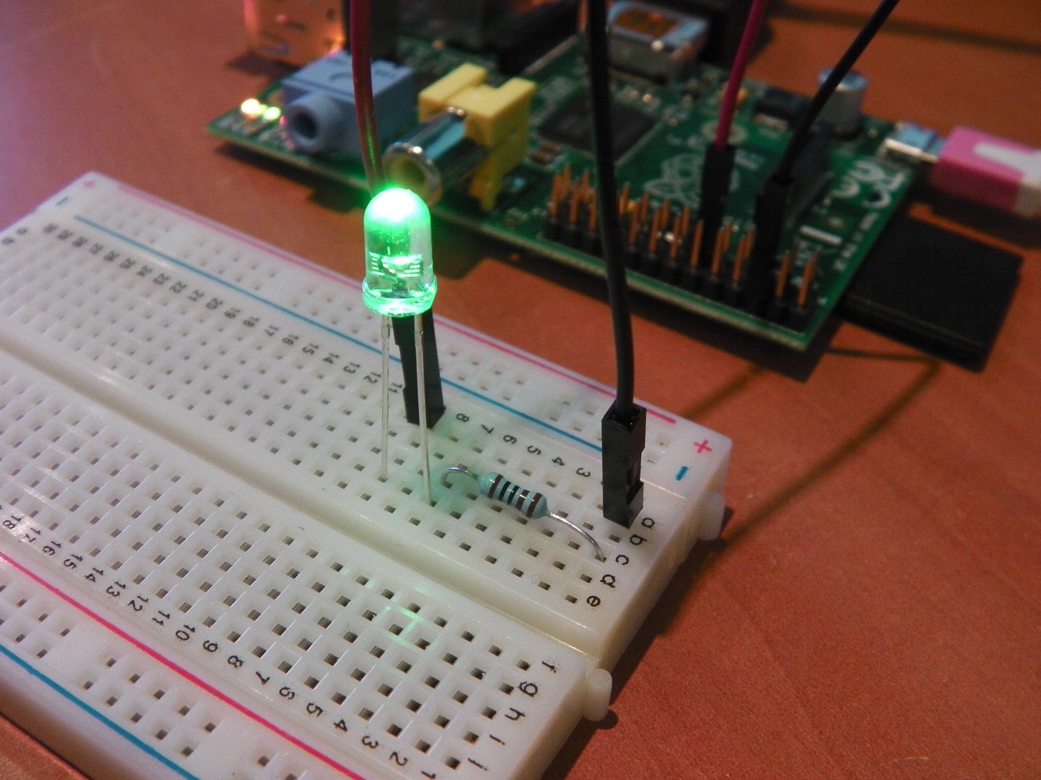 Tutorial: Flashing LED using GPIO Output | Language - Python