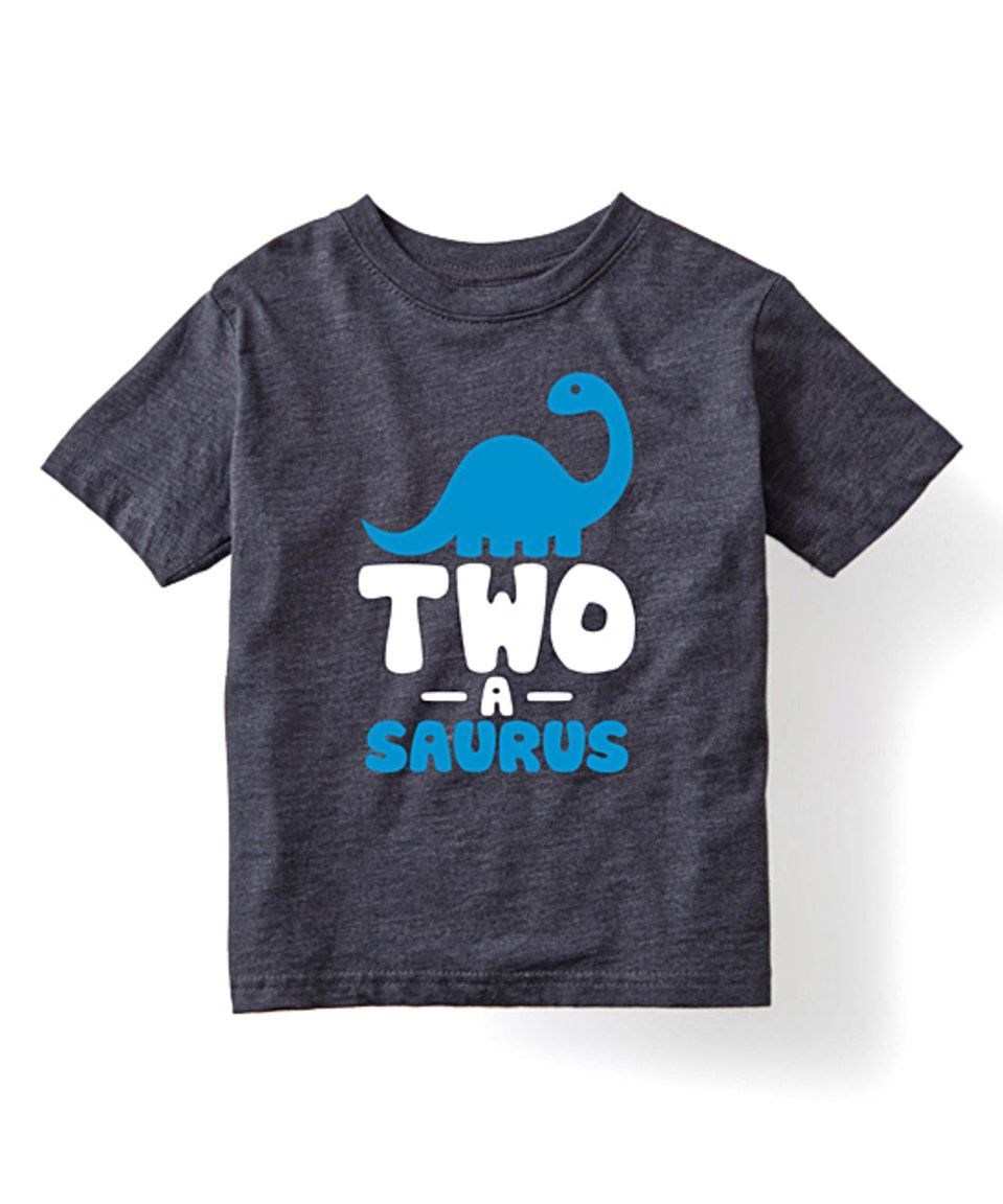 Take a look at this Heather Blue 'TwoaSaurus' Tee