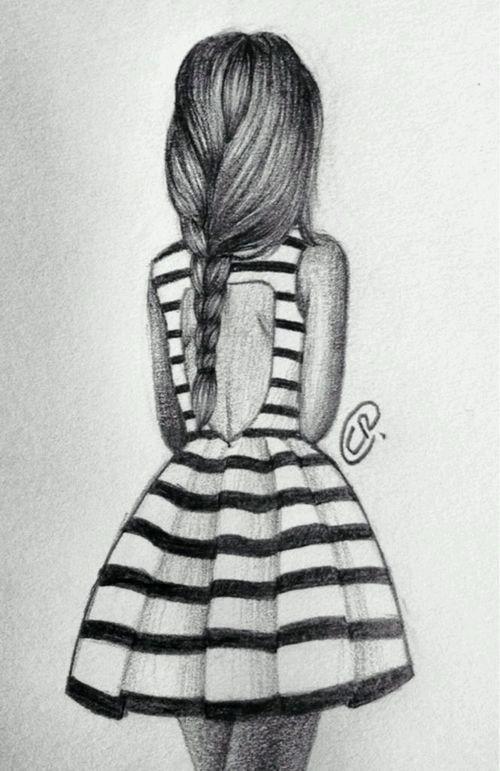 Resultado De Imagen Para Dibujos De Chicas Con Trenzas Black And