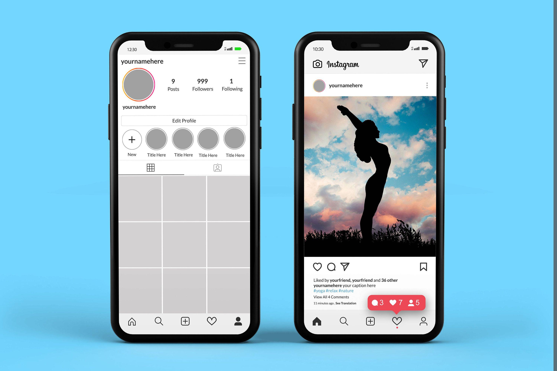 Instagram Mockup Psd Instagram Mobile Mockups Pack Social Etsy In 2021 Instagram Mockup Instagram Mobile Instagram Template