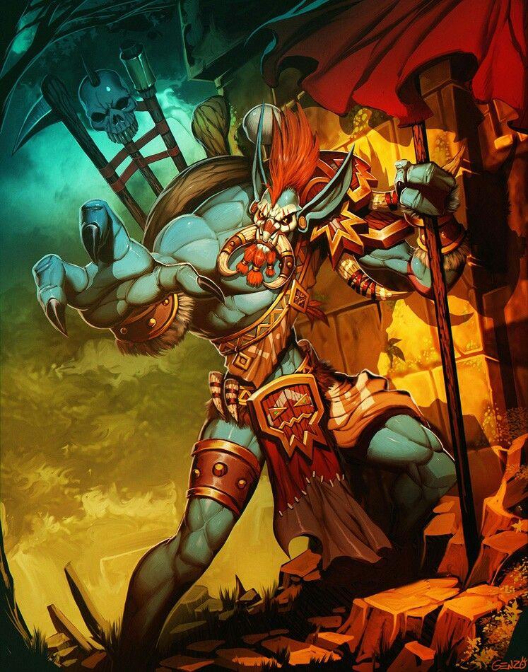 Vol'jin Warcraft characters, Warcraft art