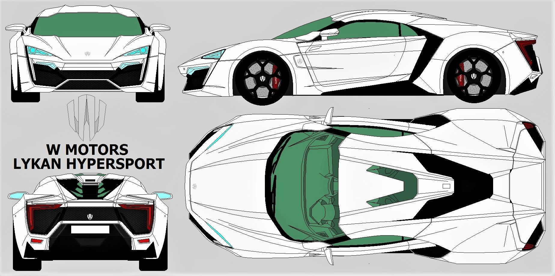 Lykan hypersport 2013 blueprint blueprints 4 views super cars lykan hypersport 2013 blueprint malvernweather Gallery
