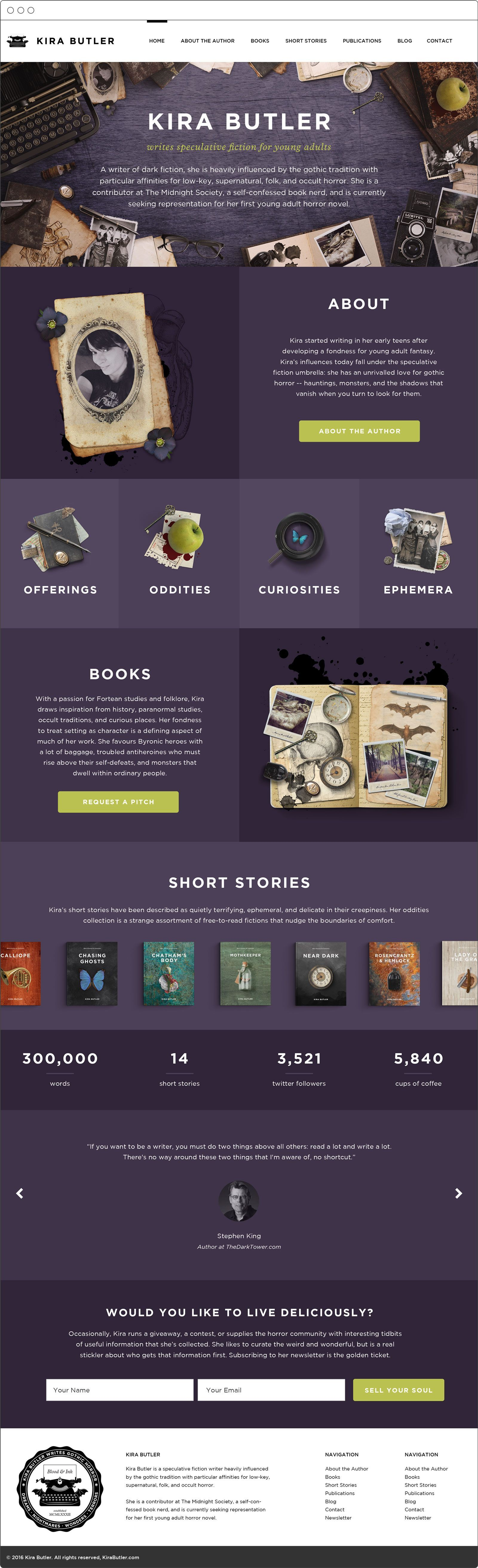 30  Young Adult Author Website Design is the heart of my author platform Using the website to focus building market interest in my career as a horror and dark fantasy wri...