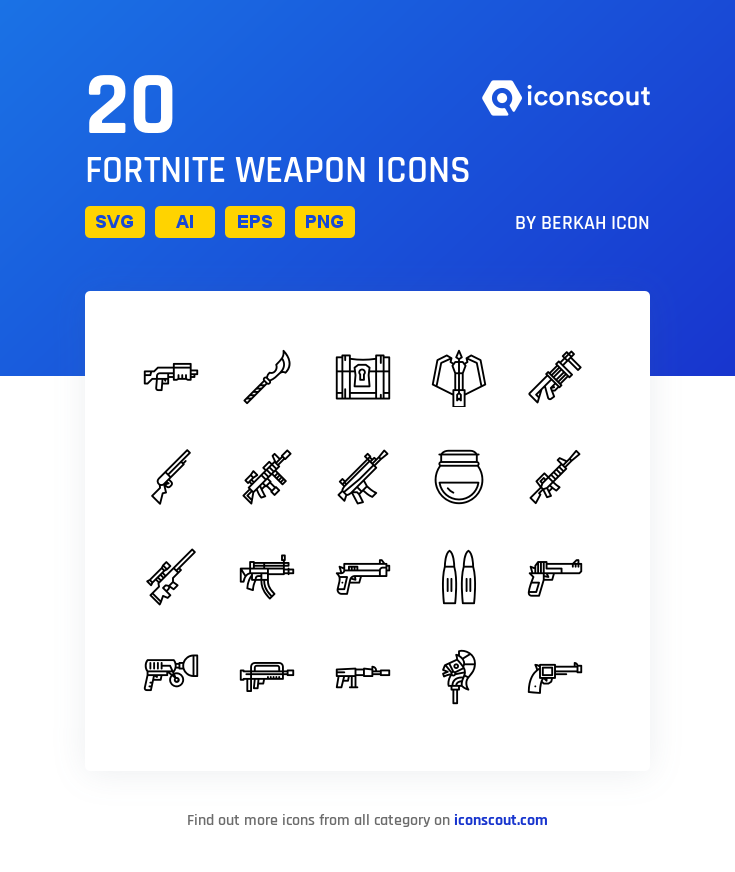 Download Fortnite Weapon Icon Pack Available In Svg Png Eps Ai Icon Fonts Icon Pack Fortnite Icon