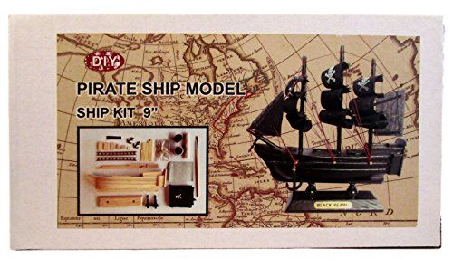 Wooden Ship Model Kit Build A 9 Boat Pirate Ship Black Pearl