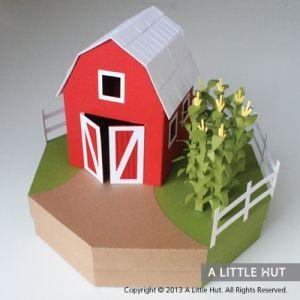 Harvest Time gift box/tea light holder | A Little Hut #svg