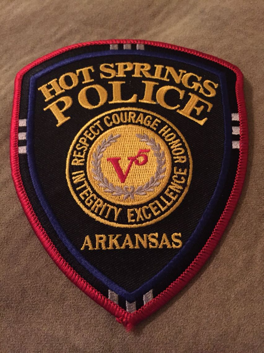 Hot springs pd police patches police police department