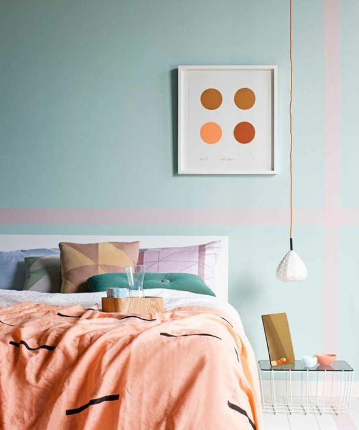 La couleur saumon u2013 les tendances chez les couleurs du0027intérieur en - couleur tendance chambre a coucher