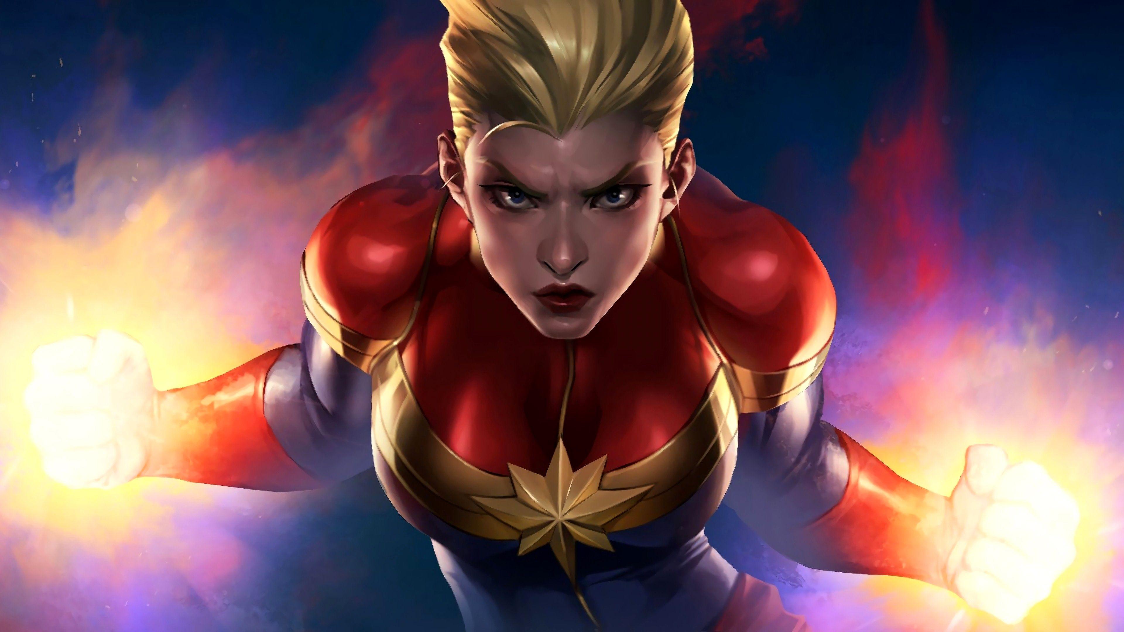 Captain Marvel Wallpaper 4k Mobile Gallery Hadari