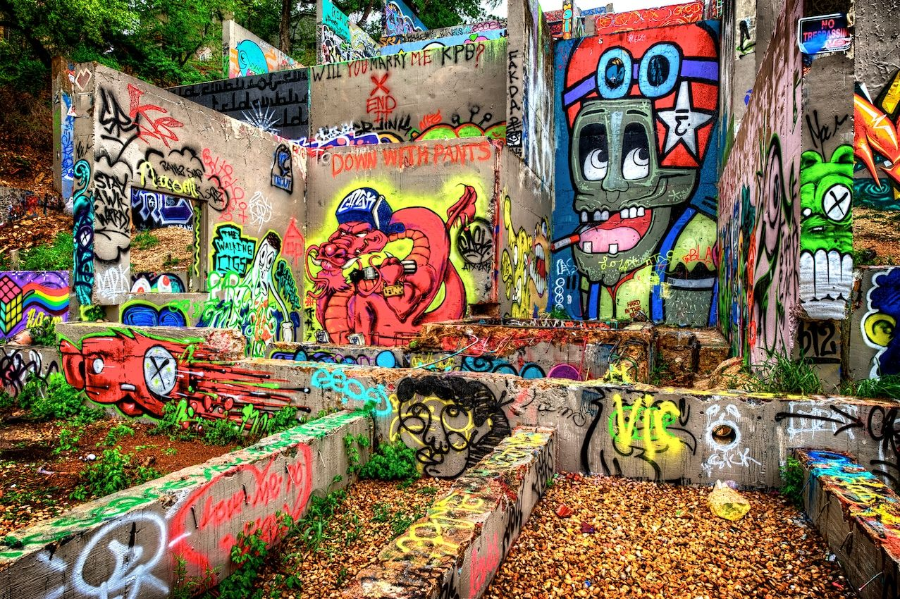The austin graffiti wall this one is pretty cool if you like graffiti and i do