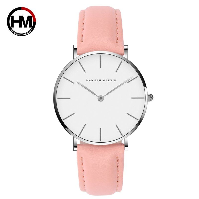 Bayan Kol Saati Dress Watch Women Leather Strap Wrist Watch Thin Thickness Simple Bracelet Watch For Girl