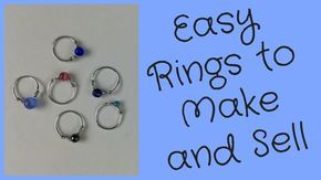 Photo of Wire Rings to Make and Sell DIY Jewelry Making Tutorial