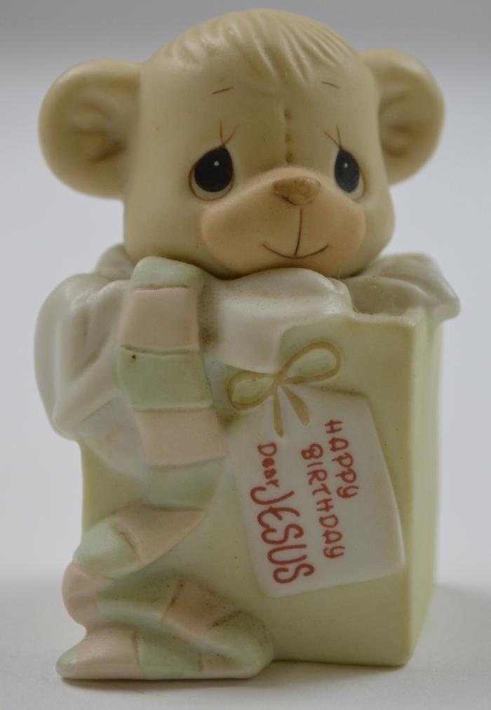 Enesco Precious Moments Happy Birthday Dear Jesus Figurine 2 5 Precious Moments Figurines Precious Moments Quotes Precious Moments