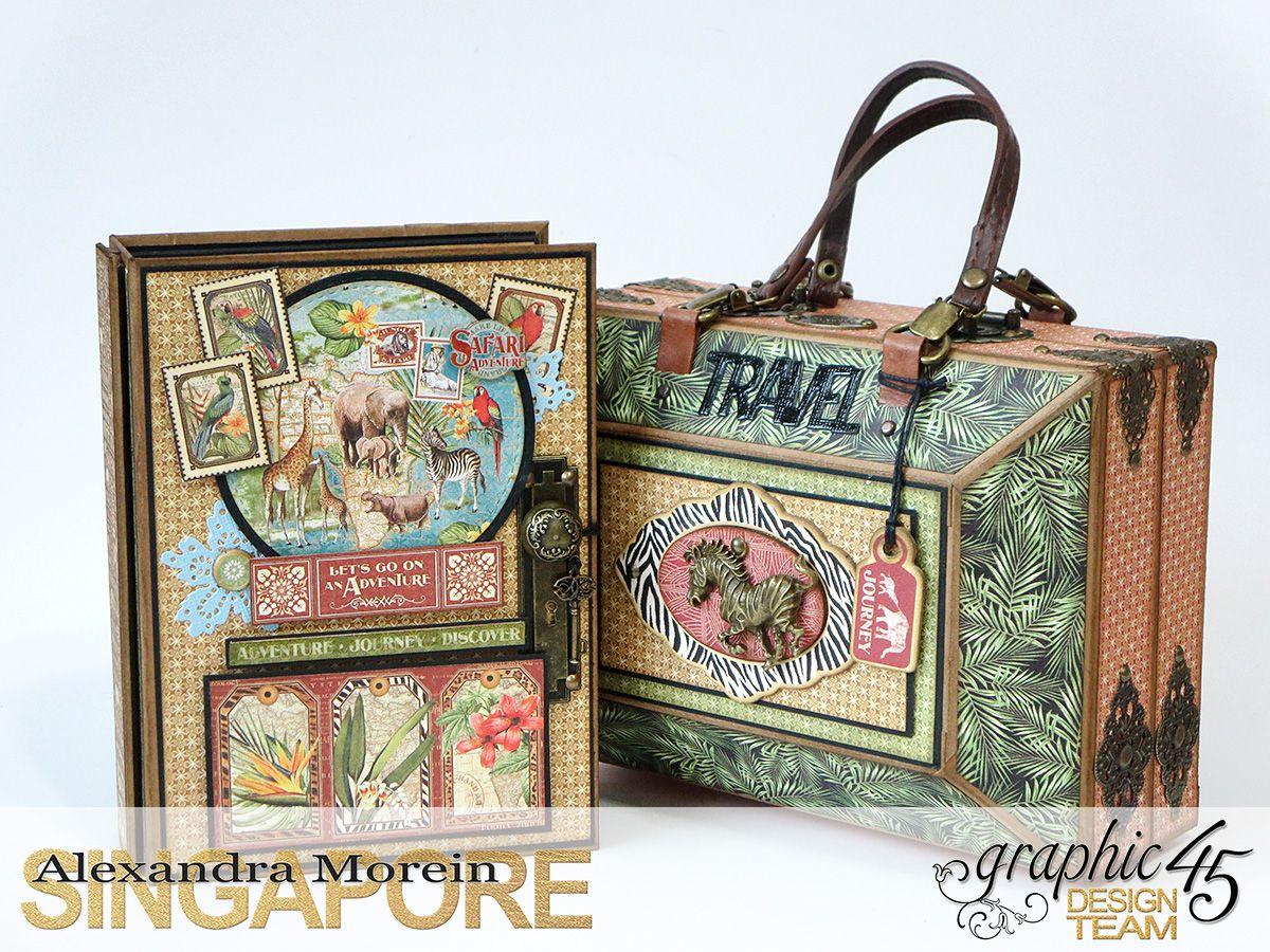 Safari Adventure Graphic 45, travel case and album