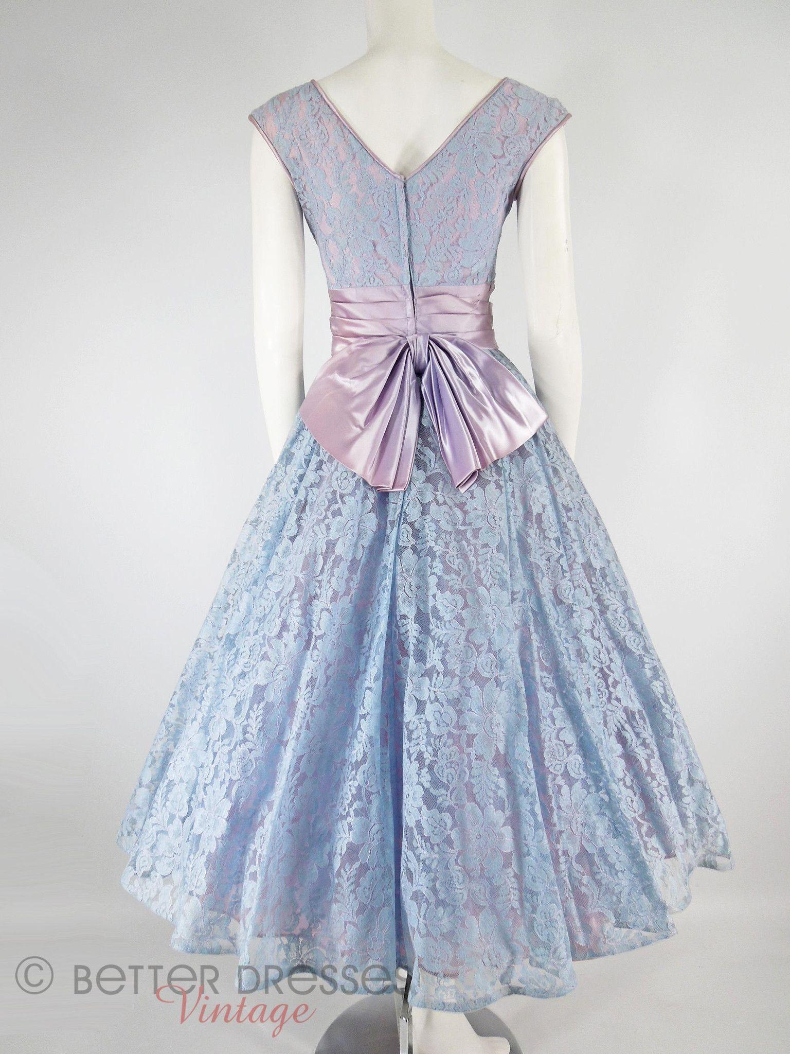 Lace dress 50s  s Lavender Full Skirt Party Dress  sm  prom dress  Pinterest